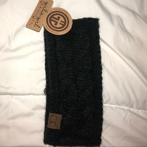 Accessories - Black Knit Headwrap